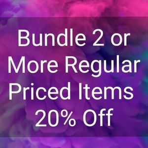 Bundle 2 or more items for more savings